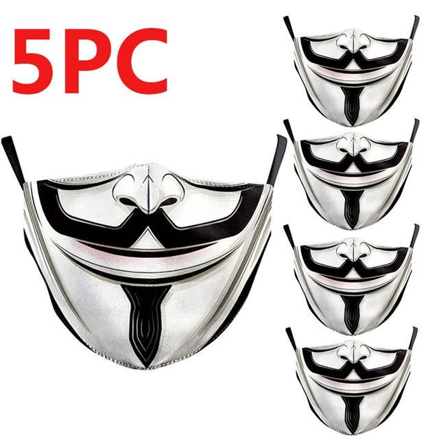 PM2.5 Washable Mouth Mask Women Men Anti Haze Dust Mask Nose Filter Face Muffle Bacteria Flu Respirator 3