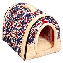 Pet Dog Keep Warm House Nest With Mat Foldable Removable Cover Pet Dog Cat Bed House For Puppy Small Medium Dogs Brown spots hot dog house nest with mat foldable pet dog bed cat bed house for small medium dogs travel pet bed bag product