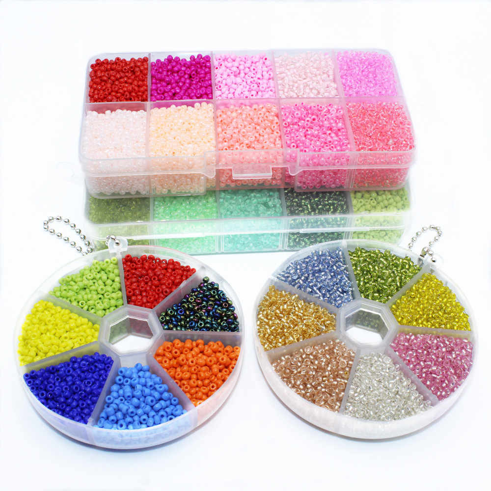 Wholesale 2mm Mixed Box Set Czech Glass Seed Spacer Beads Charm Rondelle Loose Beads for DIY Bracelet Necklace Jewelry Making