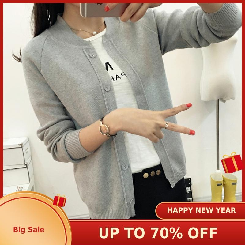 New Spring Summe 2019 Female Knit Cardigan Sweater Coat Short Female A Little Shawl Knitted Jacket Female 11 Color