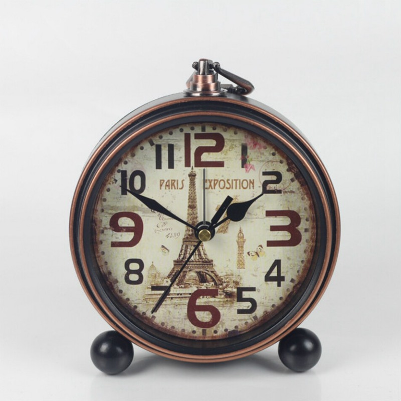 Vintage European Home Electronic Desk Clock Bedroom Home Decoration Ornaments Vintage Desktop Clock Horloge Murale