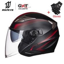 GXT мотоциклетный шлем половина лица ABS мотоциклетный шлем электрический защитный двойной объектив шлем мото шлем для женщин/мужчин Casco Moto