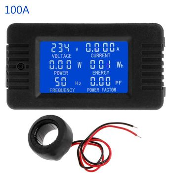 6in1 Digital AC 80~260V Power Energy Monitor Voltage Current KWh Watt Meter 100A ac voltage meters 100a 80 260v digital led power panel meter monitor power energy voltmeter voltage current meter ammeter