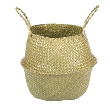 Nordic Folding Flowerpot Seaweed Hand-Woven Rattan Flower Basket Arrangement Storage Decorative Pot