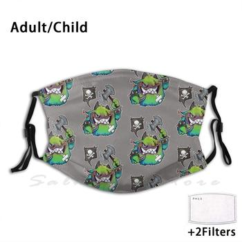 Cuddles The Battle Puffling Print Washable Filter Anti Dust Mouth Mask Puffling Monster Battle Cry Monster image