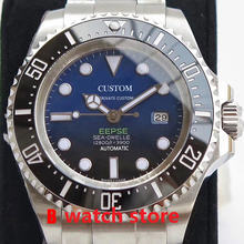 44mm Automatic Watch Male Sapphire Crystal Glass Luminous Deep Stainless Steel Sea Miyota 8215 Mechanical Watch