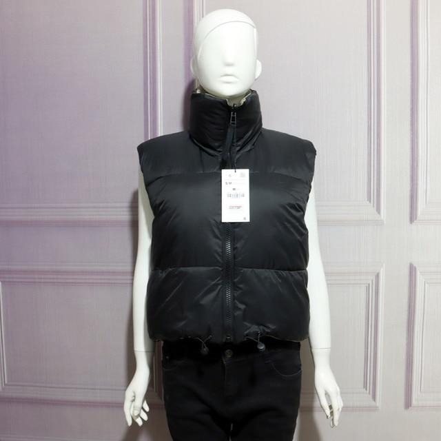 2021 Autumn Winter Women Fashion Double-Sided Jacket Coat Vintage Black Warm Sleeveless Cotton Outwear Female Casual Short Tops 3
