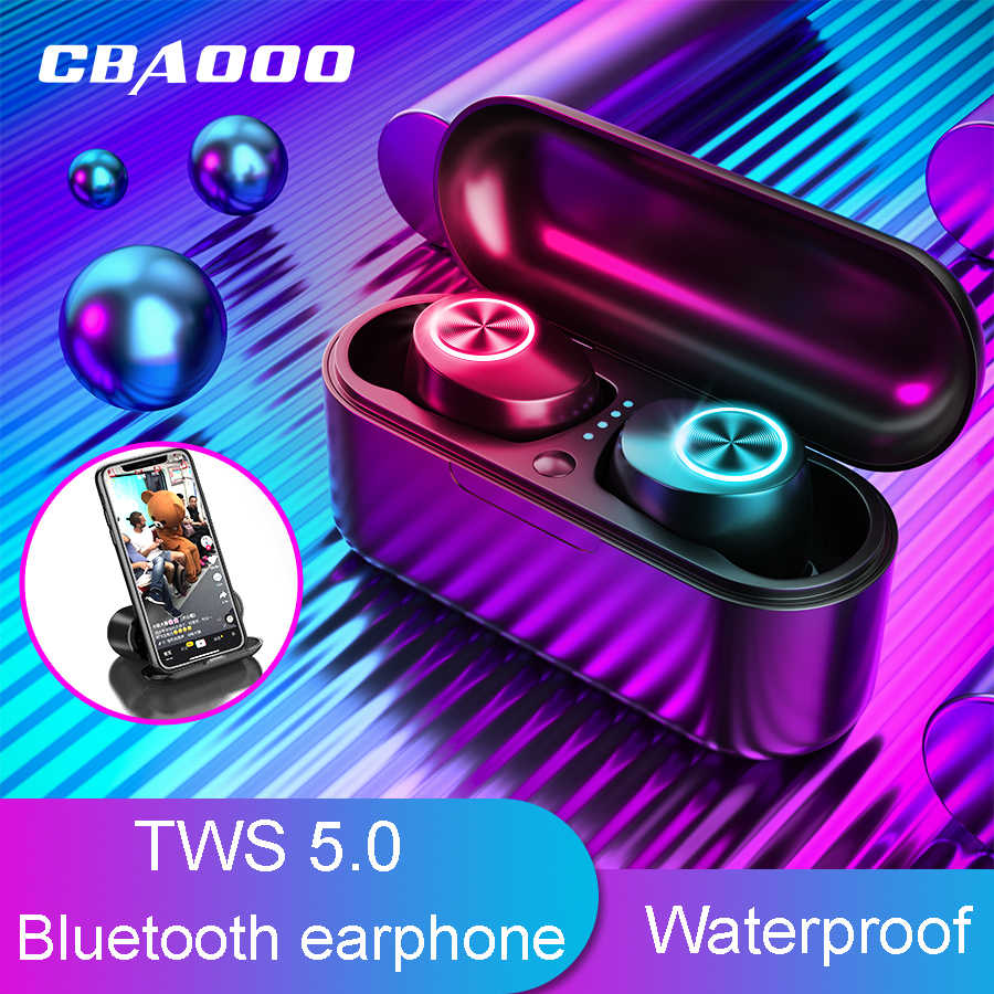 Cbaooo TX29 Tws Bluetooth Earphone 5.0V Stereo Sport Nirkabel Earbud Kebisingan Membatalkan Permainan Headset Tahan Air Headphone