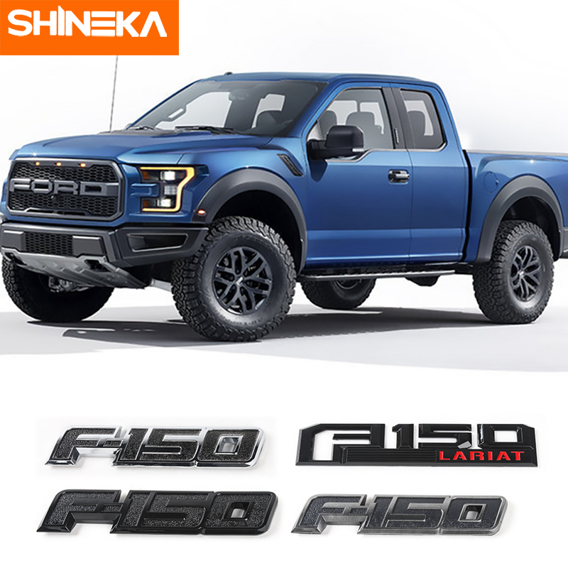 SHINEKA Stickers For Ford <font><b>F150</b></font> 2015+ <font><b>F150</b></font> Emblem Badge Car sticker Boot Trunk Tailgate Decal Stickers For Ford <font><b>F150</b></font> <font><b>Accessories</b></font> image