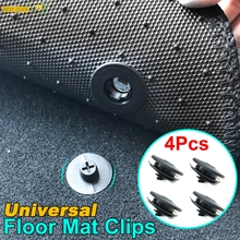 4 Sets of Car Fastener Universal Floor Mat Clips Carpet Fixing Clamps Buckles For VW Nissan Peugeot Subaru Toyota Honda Mazda