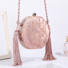 Luxy Moon розовая сумка, Круглый клатч, свадебная сумка для женщин, Роскошный кошелек с цветочным узором и вышивкой, вечерняя сумка через плечо ZD1463