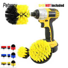 3 Pcs Brush Kit Power Scrub Drill Cleaning For Bathroom Shower Tile Grout Cordless Scrubber Attachment