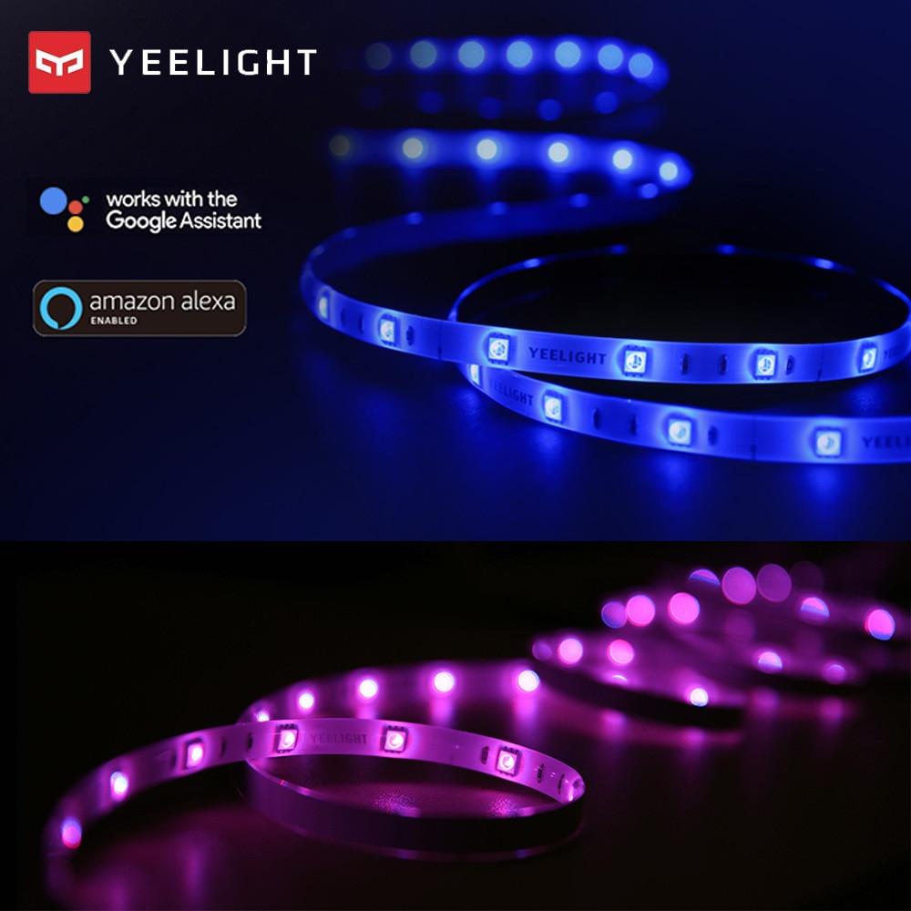 Yeelight 16 Million Color Waterproof Luces Led RGB Led Strip Lights For Home Room Ledstrip Led Lighting With APP Voice Control