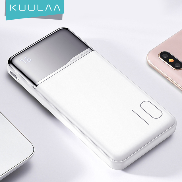 Внешний аккумулятор KUULAA на 10 000 ма · ч с USB-портами 1