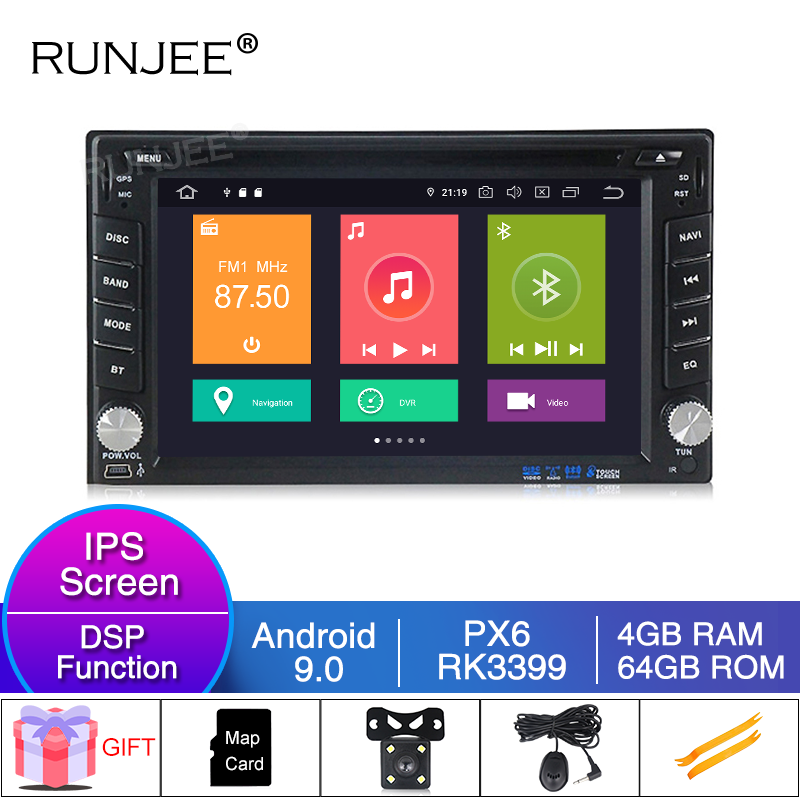 RUNJEE <font><b>Android</b></font> 9 <font><b>4GB</b></font> 64GB <font><b>Car</b></font> Multimedia 2 <font><b>din</b></font> For Nissan TOYOTA Kia RAV4 Honda VW Hyundai <font><b>Car</b></font> <font><b>Radio</b></font> GPS In dash <font><b>Car</b></font> Stereo image