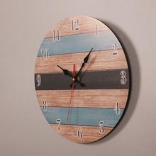 Wall Clock Modern Design Mechanism Vintage Digital Metal European Wooden Roman Craft Living Room Decorative Gift