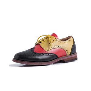 Image 5 - ผู้หญิงรองเท้าหนังOxfordรองเท้าผู้หญิงรองเท้าผ้าใบLady Brogues Vintage Casualรองเท้ารองเท้าผู้หญิง 2020 สีเขียวสีน้ำตาล
