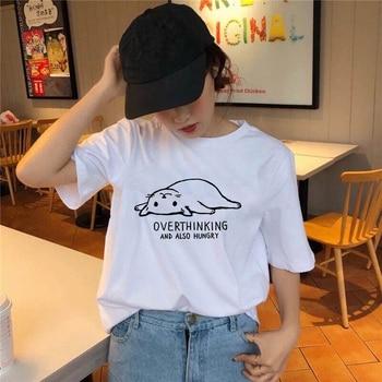Cute Cat  Print T Shirt Women TShirt Funny Cat Design Lovely Girl T-shirt Summer Ladies Casual Cotton Tee Shirt cat print tee