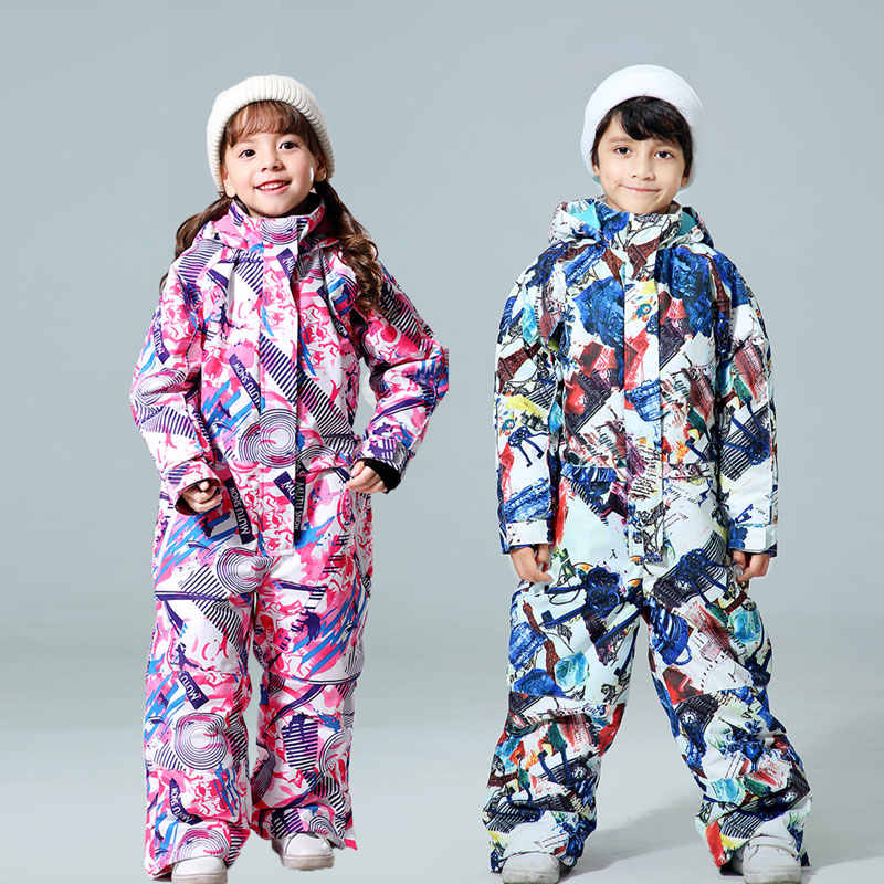 New Winter Kids Ski Suit -30 temperature Children Snow Jacket Brands Waterproof Warm Girls And Boys Snow Snowboard Jacket Child