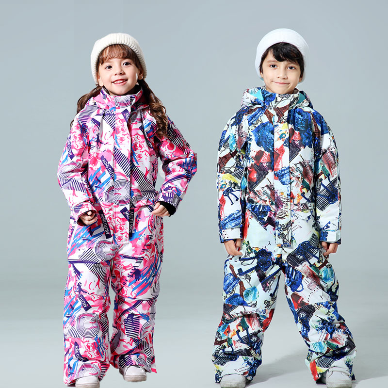 New Winter Kids Ski Suit -30 Temperature Children Snow Jacket Brands Waterproof Warm Girls And Boys Snow Snowboard Jacket Child