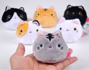 NEW 1PCS 6colors KAWAII 8CM Cats Stuffed TOYS Keychain Cat Gift Plush TOY DOLL For Kid's Party Birthday Plush Toys For Girl NEW(China)