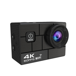 4K 60Fps EIS Action Camera with 2.0 inch IPS Screen 24MP Anti-Shake Waterproof Sport Camera with Wireless Remote 170 Wide Angel