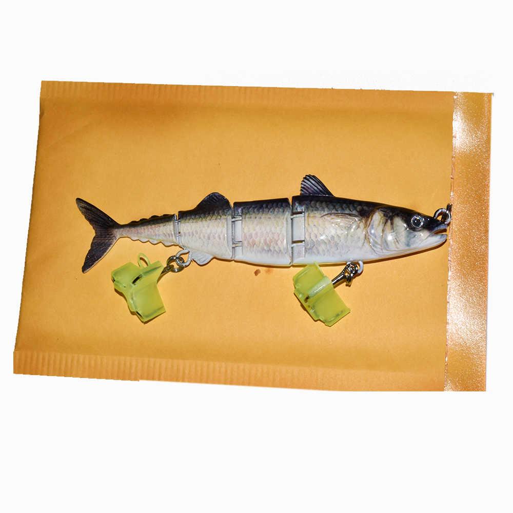 Señuelo de atún ODS 4 secciones Swimbait 15cm 31g muestra gratis de Señuelos de Pesca Señuelos de pesca de lubina articulada dura para agua salada y de agua dulce