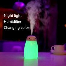 7 farbe LED Sterlingsilber-stille licht mit 400ml Luftbefeuchter Aroma Aromatherapie USB lampe baby blub lampe anime licht
