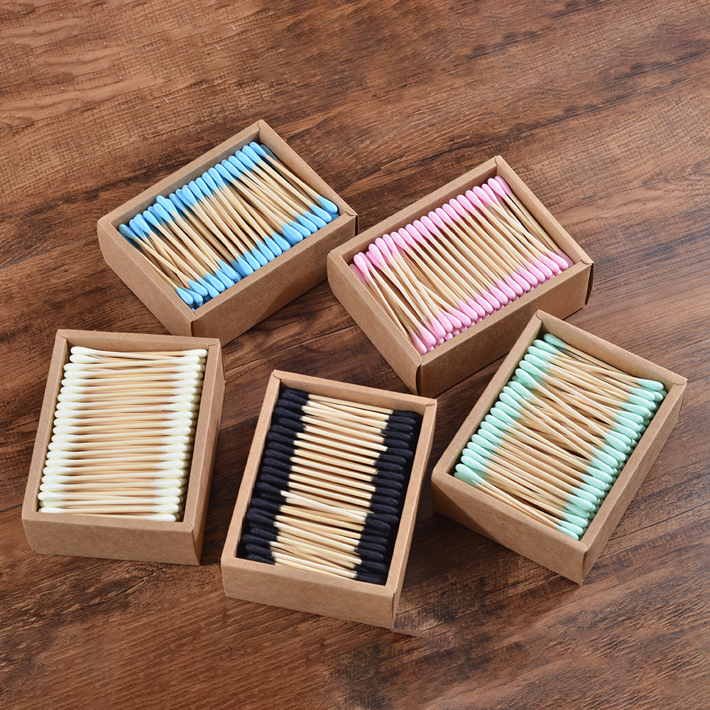 Health-Tools Makeup-Cotton-Swab Microbrush Wood-Sticks Nose Ears-Cleaning 1000pcs Double-Head