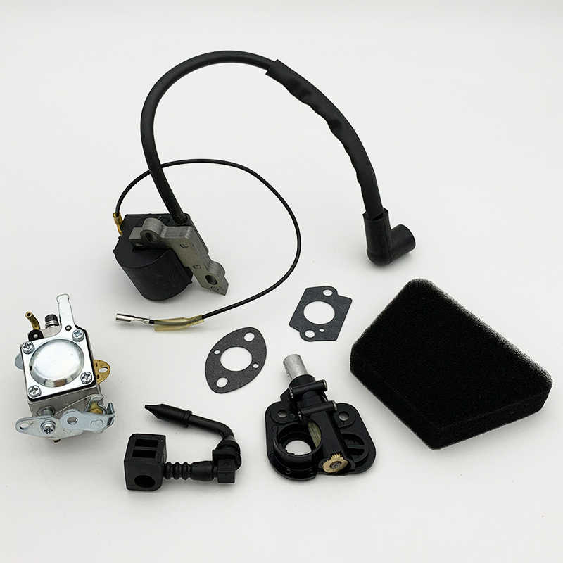 Carburetor w Air Filter Ignition Coil Oil Pump For Mcculloch Mac Cat 335 435 440