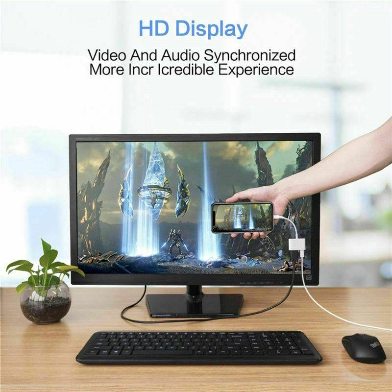 Lightning To HDMI, Lightning To Digital AV Adapter Cable