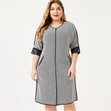 2020 outono das mulheres mais tamanho vestido houndstooth moda senhoras femal elegante vestidos mulher festa noite 4xl 5xl 6xl