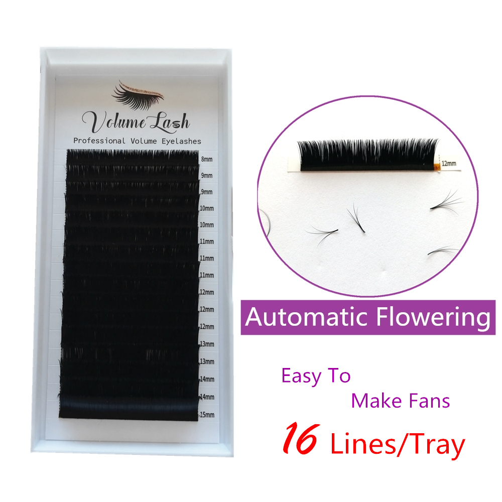 Blooming Volume Eyelash Extensions 5 Trays Self Fanning Fast Fans Lashes Rapid Automatic Auto Bloom Mix Length Eyelashes Easy-in False Eyelashes from Beauty & Health    1