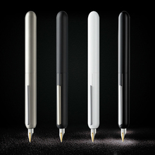 Retractable-Pens Dialog Gold-Tip 3-Fountain-Pen Focus Dot-Design Black Titanium 14K LM