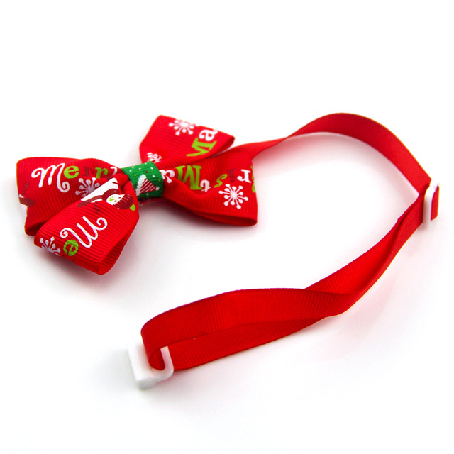 Christmas Adjustable Cat Dog Collar Holiday Cats Dog Bow Tie 5
