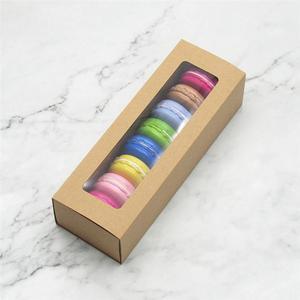 Recipientes de pvc de macaron, caixa de embalagem de papel de cozimento transparente para janela, recipientes de biscoitos para loja de sobremesa doméstica com 10 peças