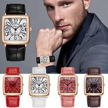 Deri Band Analog Kuvars Saatler bayanlar izle hediyeler kadınlar için elbise Reloj Mujer siyah saat Kadın Kuvars Saatler
