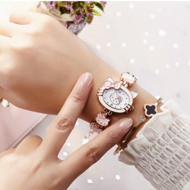 2019 nova reloj crianças relógios para meninas dos desenhos animados adorável pulseira estudante menina relógio bonito relógio de quartzo presente aniversário alta qualit 6