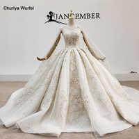 Платье для свадьбы HTL1484, длинное, блестящее, светло-коричневое, с накидкой, 2020
