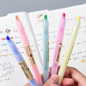 Image 3 - 40 قطعة/الوحدة ماتي نمط اللون قلم تحديد أقلام الفلورسنت تسليط الضوء على رسم بقعة بطانة بالجملة مكتب المدرسة F129