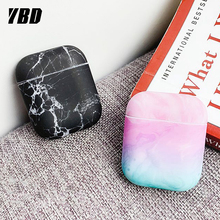 YBD Marble Pattern Case For AirPods Protective Cover for Apple Airpods Air Pods Coque Funda Airpod accessories