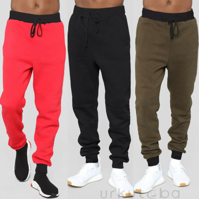 Mens Sport Trousers Sweat Pants Jogging Joggers Tracksuit Hiphop Casual Bottoms