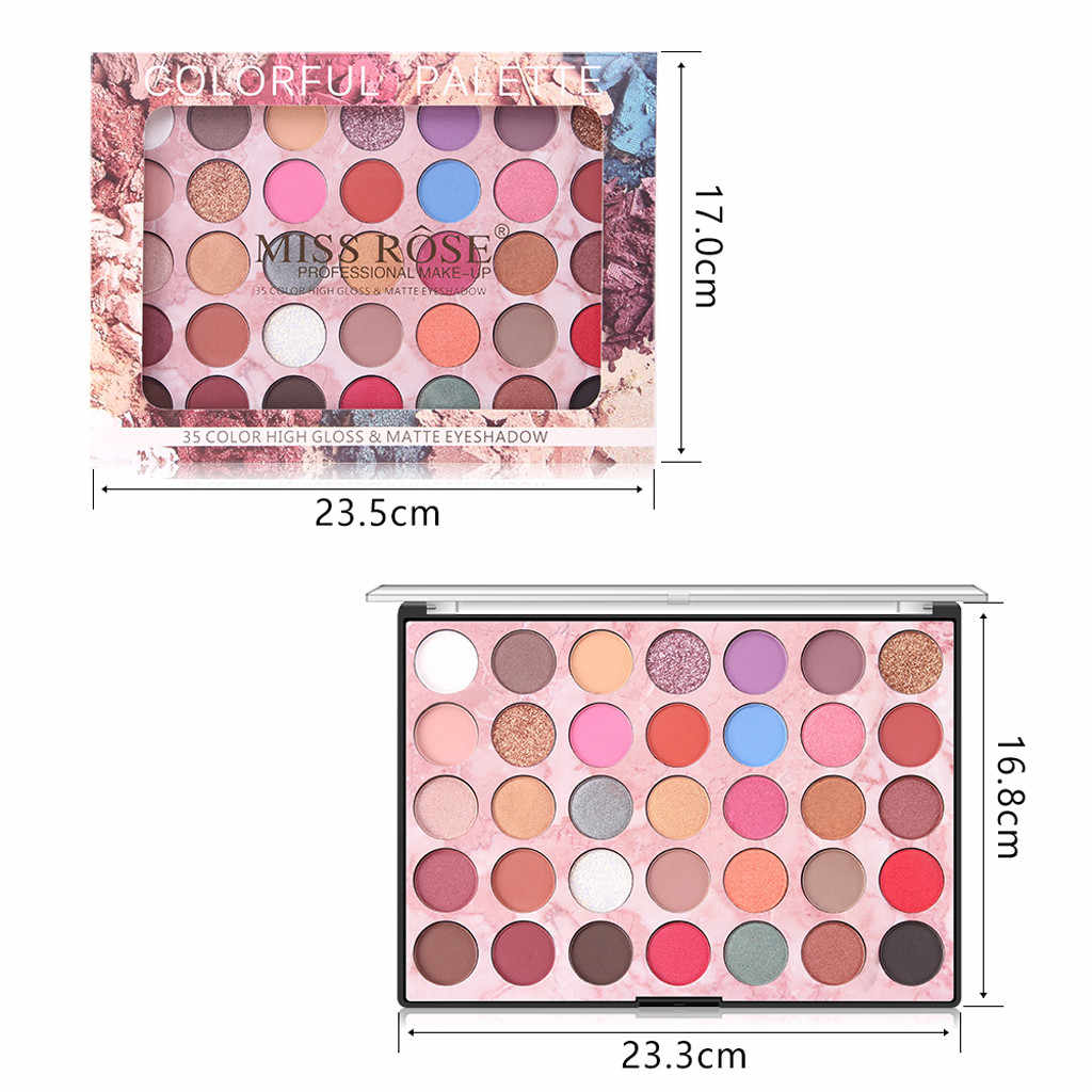 MISS ROSE Eye Shadow Pearl Glitter Eye Shadow Powder Matt Eyeshadow Cosmetic Makeup 35 Color Portable Convenient Aug29
