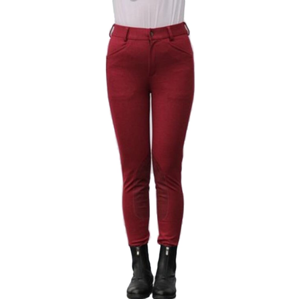 Cotton Horse Riding Equestrian Breeches Pants Full Leg Stretchy Equine Pants Equine Clothing Women