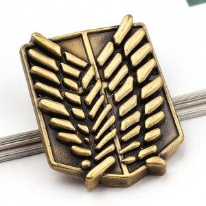 Японские ювелирные изделия аниме «Атака Титанов», булавки, брошь легионы, значок единорога, булавка для лацкана, броши для коллекции болельщиков