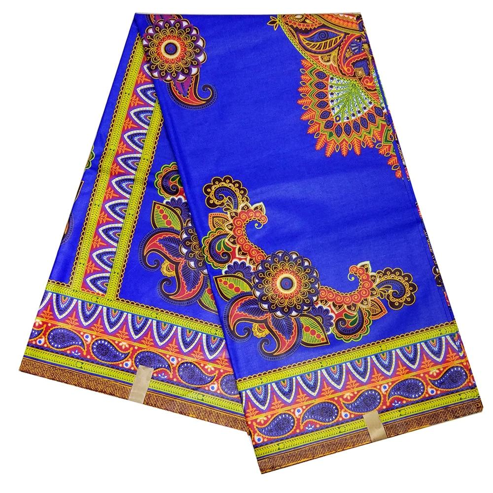 2019 New Arrivals Classy African DIY Fabrics High Quality Ankara Nigerian Blue Real Dutch Wax