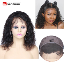 Wignee Lace Frontal Curly Hair Human Wig With Baby Hair For Black Women Remy Hair Pre Plucked Hairline Lace Front Human Hair Wig
