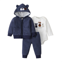 תינוק ילד בגדי סלעית מעיל + romper + מכנסיים cartoon כלב 2020 אביב סתיו תלבושת חדש נולד ארוך שרוול סט יילוד תינוקות בגדים