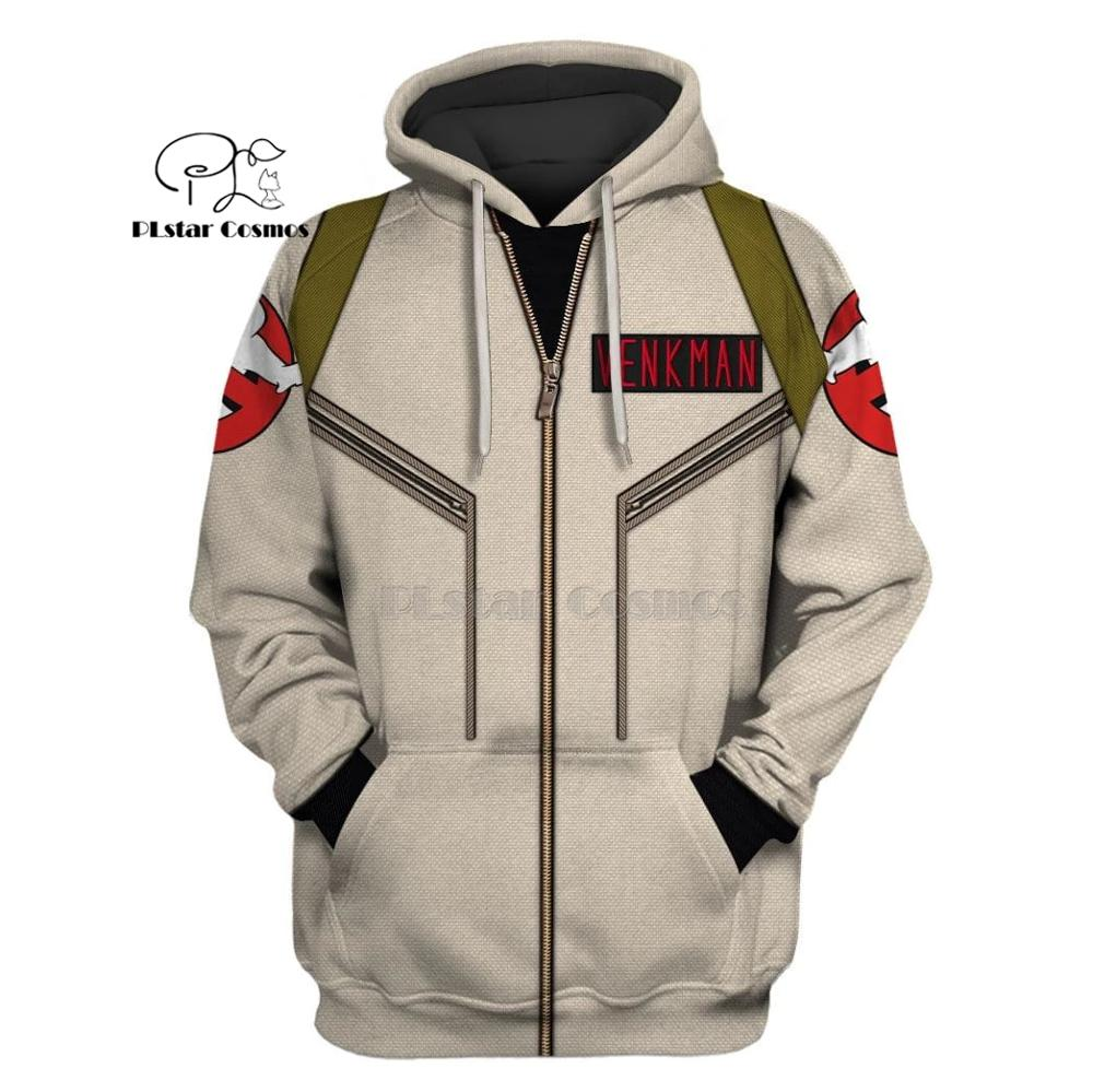 PLstar Cosmos Ghostbusters venkman hero Apparel 3d hoodies/Sweatshirt Winter autumn funny Harajuku Long sleeve streetwear