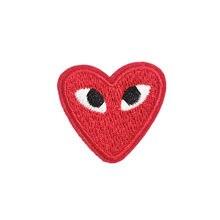 Parche de corazón personalizado, chenilla bordada, dibujos animados, corazón encantador, pegatinas bordadas, accesorios para ropa, venta al por mayor